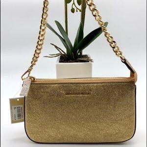 Michael Kors gold glitter handbag
